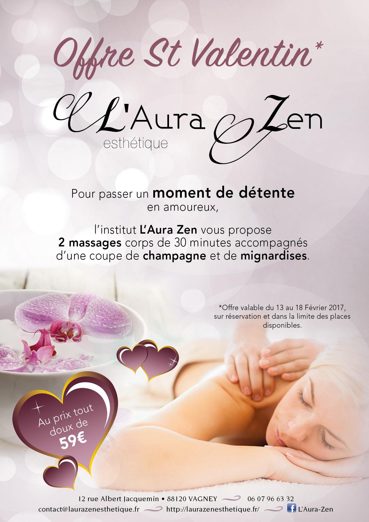salon de beauté L'Aura Zen offre du moment