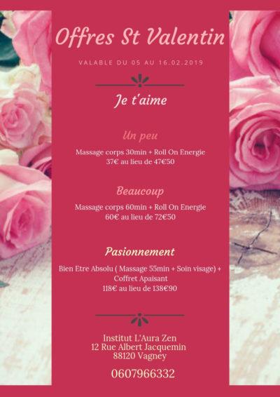 Offre Saint Valentin L'Aura Zen Vagney